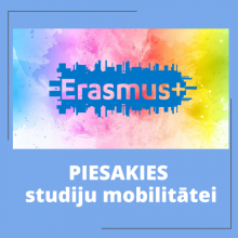 LĪDZ 2.APRĪLIM LSPA STUDĒJOŠIE VAR PIETEIKTIES ERASMUS+ STUDIJU MOBILITĀTEI